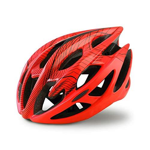 MissLi Casco De Bicicleta De Montaña De Carretera Profesional con Gafas Casco De Bicicleta Todo Terreno Ultraligero Casco De Ciclismo Deportivo (Color : Red, Size : Large)
