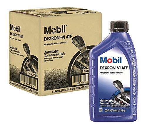 Mobil 1 122973 ATF Oil Dexron VI Case6x1 Qt, 192. Fluid_Ounces
