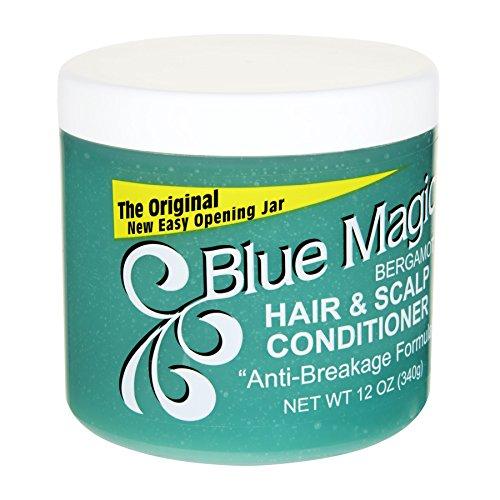 Blue Magic Bergamot Hair & Scalp 12 Ounce Jar (354ml) (3 Pack)