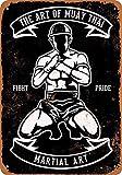 YASMINE HANCOCK Martial Arts Muay Thai Metall Plaque Zinn