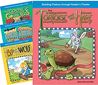 Teacher Created Materials - Reader's Theater: Fantastic Fables Set 1 - 4 Book Set - Grades 2-3 - Guided Reading Level E - Q