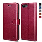 OCASE Coque iPhone 8 Plus, Coque iPhone 7 Plus,Housse en Cuir Premium Flip Case Portefeuille Etui...