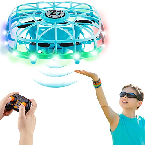 Mini Drone for Kids, Hand Controlled Drone for Boys and Girls, Remote Control Drone with 360° Rotating, Colorful Light and Upgraded Sensors, Gift for Kids Age 5 6 7 8 9 Years Old