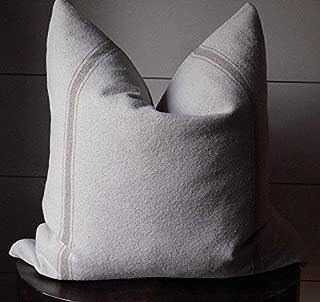 Grain Sack Farmhouse Stripe Pillow Cover