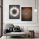 UIOLK Cartel Oro Abstracto Artista de Lienzo nórdico decoración del hogar Arte de la Pared impresión Retro Sala de Estar Retro minimalismo Imagen