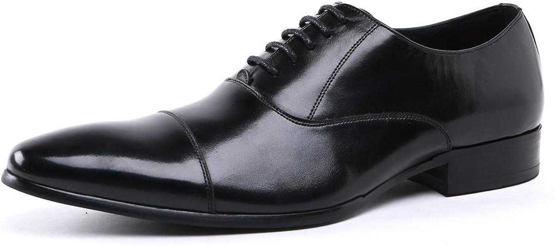 Bröllopsformaliteter för mäns läder - och läderskor, spetsiga spetsiga spetsiga tårtor för svart bspringaaat kontors - arbetsparti storlek 38 -44  märkeuttag
