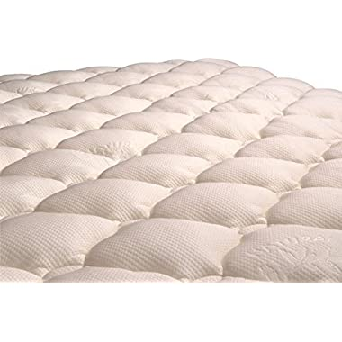 VirtueValue Bamboo Mattress Pad with Fitted Skirt - Extra Plush Cooling Topper - MANUFACTURER DEFECTS (King)