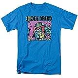 Trevco Judge Dredd Comic - Camiseta para Adulto - Azul - Large