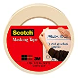 Scotch Tan Home and Office Masking Tape, 3/4-inch by 60 yards, 3436, 1...