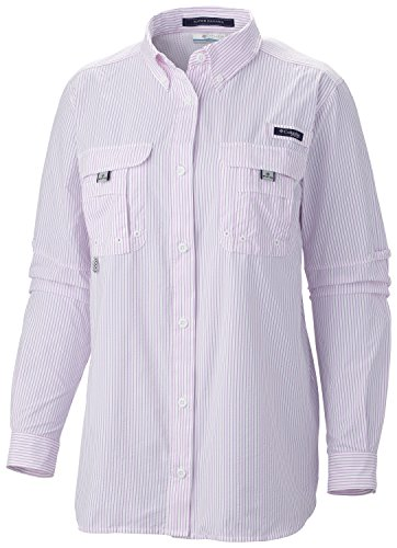 Columbia Sportswear Damen Super Bahama Langarmshirt, Fingerhut-Streifen, XS