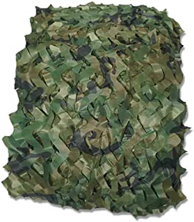 Image of DPPAN Camouflage Netting Camo Net, Sunscreen Nets Blinds for Military Woodland Camping Desert Shooting Hunting Hide Party Decorations,Green_10x15m(33x49ft)