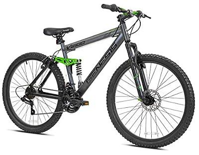 Genesis V2100 Men's Dual Suspension Mountain Bike, Slate Gray