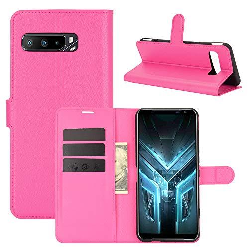 LTao-case [CNL] ASUS ROG Phone 3 ZS661KS Funda, ASUS ROG Phone 3 ZS661KS Funda Flip Cuero de la PU+ Cover de Silicona Protección Fija 2