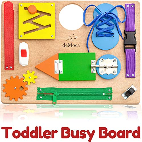 deMoca Montessori Busy Board for Toddlers