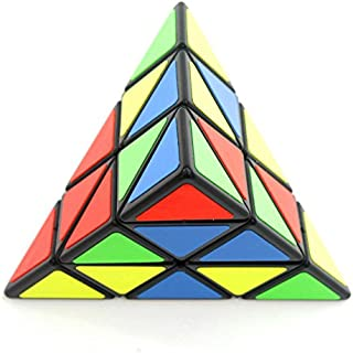 Wings of wind - Eco-friendly Plastics Speed Pyraminx Magic Cube Triangular Puzzle Cube (Black)