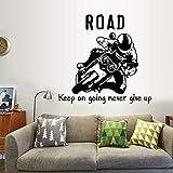 Motociclista sala de estar dormitorio estudio protección del medio ambiente pegatinas de pared arte decorativo pegatinas de pared cartel