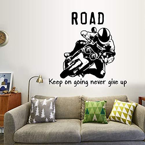 HFDHFH Motociclista Sala de Estar Dormitorio Estudio protección del Medio Ambiente Pegatinas de Pared Arte Decorativo Pegatinas de Pared Cartel