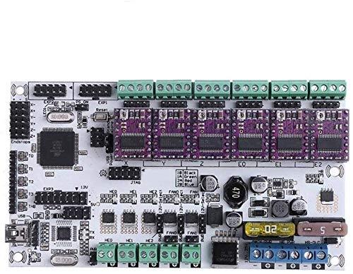 DIANLU31 12V RUMBA PLUS Integrated Board Sovraboard Scheda di controllo della scheda madre 3 TESTE DI STAMPA CON 6 PZ DRV8825 DRIVER STEPPER per moduli driver della stampante 3D .Prestazioni stabili