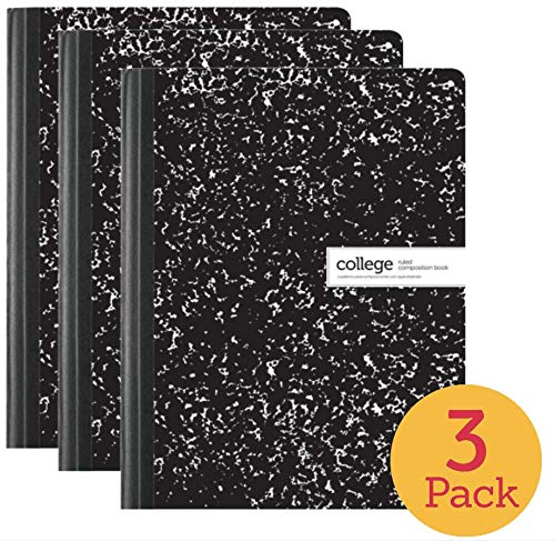 1InTheOffice College Ruled Composition Notebook, 100 Sheets, 7 1/2
