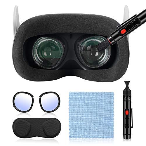 Esimen Caneta de limpeza de lentes para Oculus Quest 2, Quest/Rift S/GO, acessórios para óculos armação de filtro de luz azul, lente ótica, kit de limpeza de lentes, poeira e impressões digitais (preto)