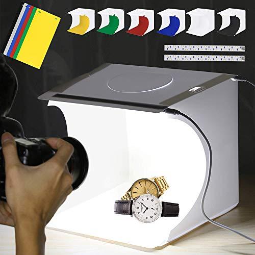 ALUCAX Mini Photo Studio Box with 2…