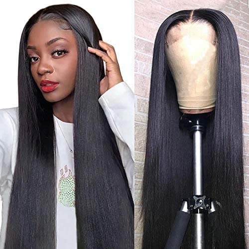 Mariska 4X4 Lace Front Wigs Human Hair Pre Plucked Brazilian Straight Human Hair Lace Closure product image