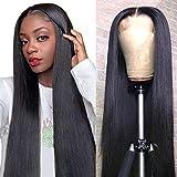 Mariska 4X4 Lace Closure Wigs Human Hair Wigs Brazilian Straight Human Hair Wigs for Black Women 150% Density Middle Part Lace Closure Human Hair Wigs for Black Women (28inch, 4X4 lace closure wig)