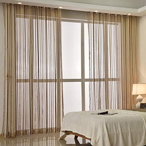 WBXZAL-Rideaux Rideau Partage l'écran écran Chambre Rideau Salle Rideau Vie Moderne fenêtre Flottante Balcon Fini Fils Fils translucides,150,C