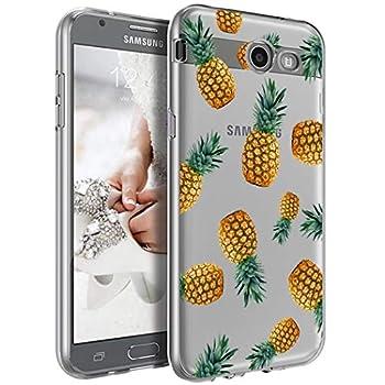 Vavies Galaxy J7 Prime Case Not fit J7 2018  J7 Sky Pro/J7 V/Halo/J7 Perx Case Clear Soft Flexible TPU Cover for Samsung Galaxy J7 2017  Pineapple