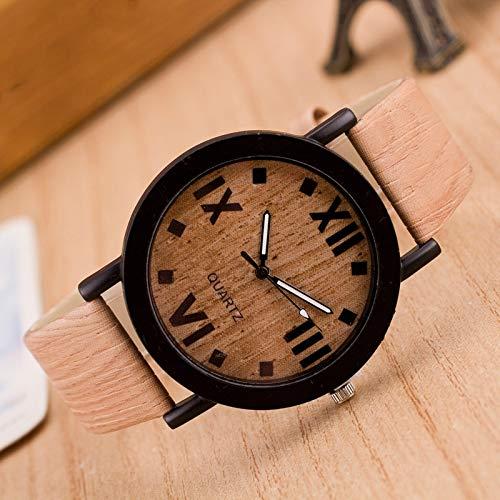 Uhren 3er-Pack römische Ziffern Uhr Körnige schwarz Shell Asun (Color : Color3)