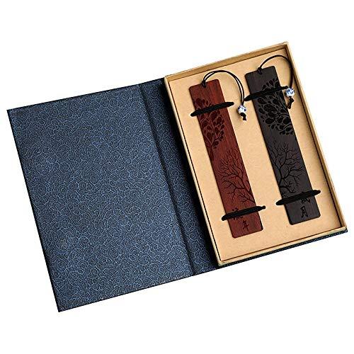 bobotron Set di segnalibri tradizionali cinesi fatti a mano, con nappa, regalo per bambini e amici, confezione regalo