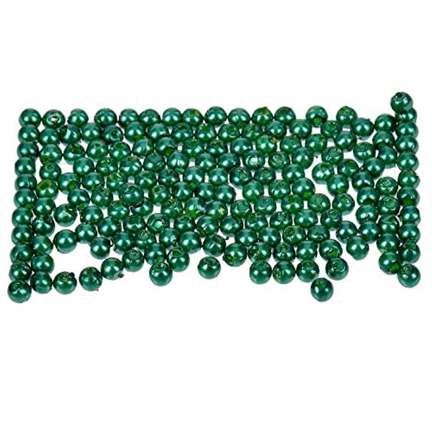 Efco Wax Beads, Plastic, Green, 3 mm Diameter, 125-Piece