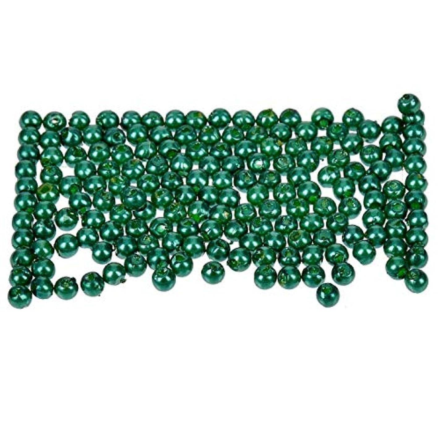 Efco Wax Beads, Plastic, Green, 3 mm Diameter, 125-Piece mai91926606