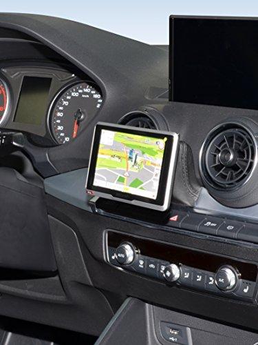 KUDA 6805 Soporte de piel sintética negro para Audi Q2 (tipo GA) a partir de 2016