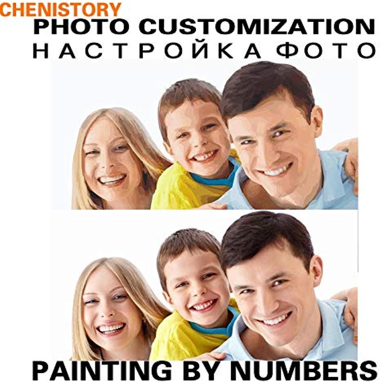 Todos los productos obtienen hasta un 34% de descuento. KYKDY Pintura de bricolaje bricolaje bricolaje por números Foto de personalidad Personalizada Tu propio retrato Boda Familia Niños Fotos para regalo único, 60x90 cm sin marco  Las ventas en línea ahorran un 70%.