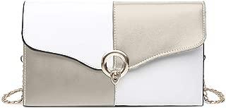 TOOGOO Women'S Wild Bag Envelope Bag Tote Personality Fashion Wild Messenger Bag Lady Bag Black And White Stitching Bag Black