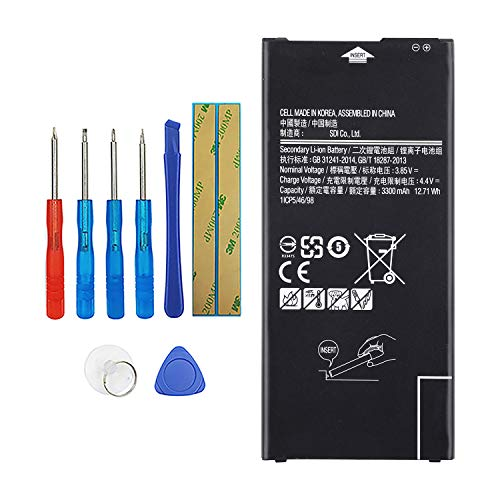 Vvsialeek EB-BG610ABE - Batteria compatibile per Samsung Galaxy J4 Plus 2018 SM-J415F Galaxy J6 Plus 2018 SM-J615F con kit di attrezzi