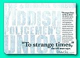 Rare The Yiddish Policemen s Union: Letterpress Broadside - Signed by Michael Chabon