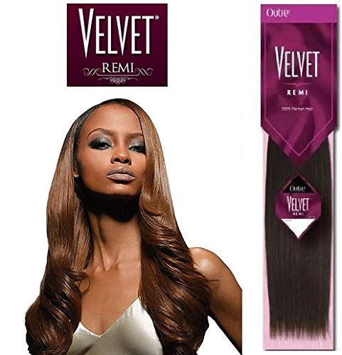 """Velvet Remi Human Hair Weave - Yaki Weaving 16"""" - Color 613"""