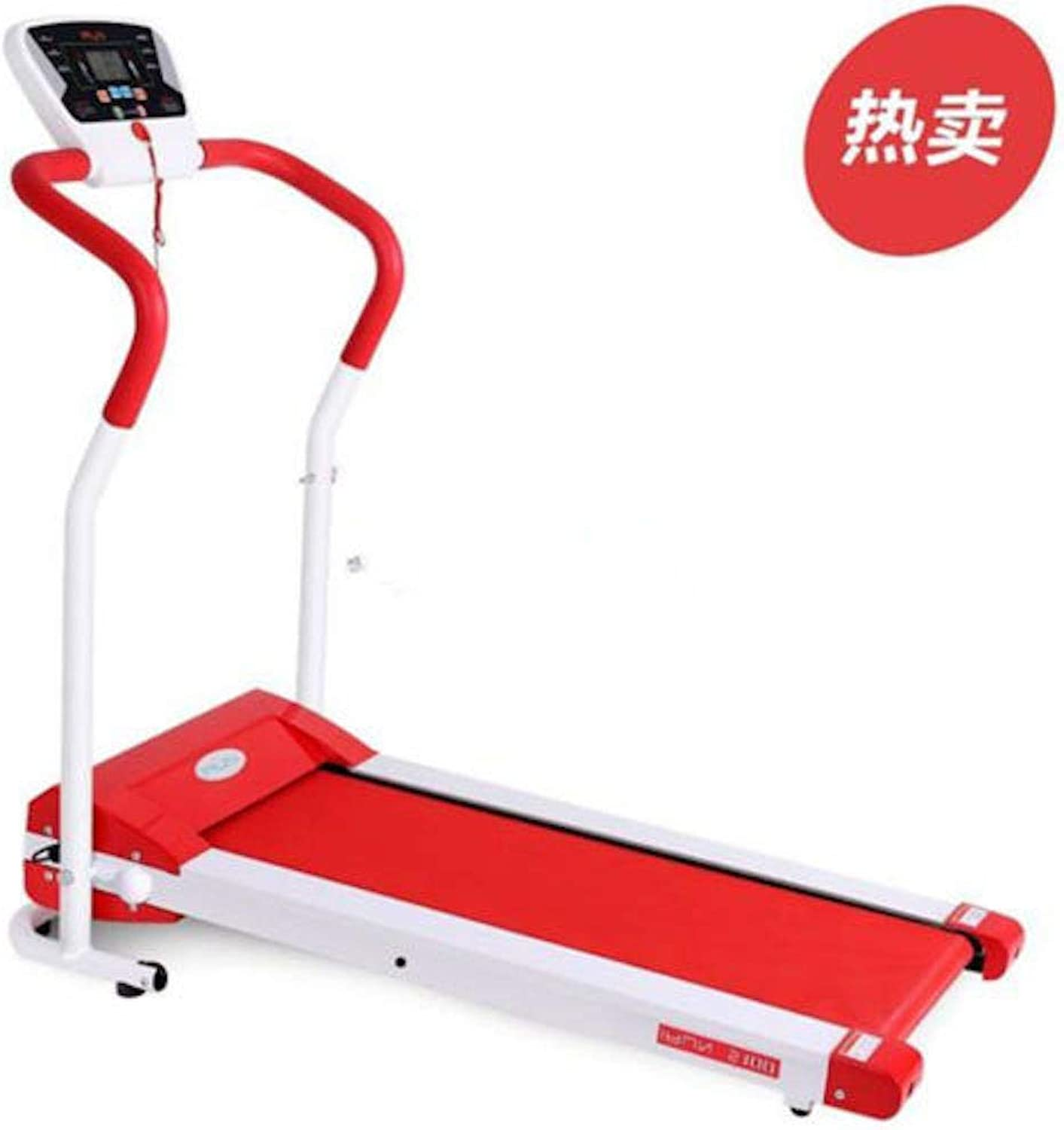 2HP Electric Motorized Treadmill 350cm Red Belt Electric Fitness Home Easy Folding