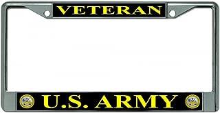 LPO U.S. Army Veteran Chrome License Plate Frame