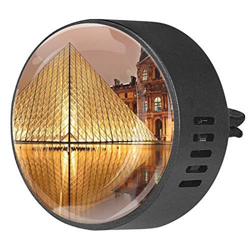 MUMIMI 2 unids coche difusor de ventilación clip aromaterapia aceite esencial difusor ambientador - Louvre Paris