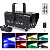 Upgraded Smoke Machine with Lights, softeen 500W Party Fog Machine with 2 Wireless