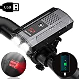 WAKYME Bike Light Set, 1200LM Upgrade 5200mAh USB Rechargeable Bicycle Light with Power Bank Function and...