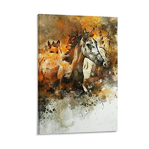 rongtao Cuadro artístico de cuadros de caballos galopantes y arte de pared, impresión moderna para decoración de dormitorio familiar, 40 x 60 cm