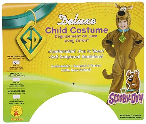 Hanna-Barbera Scooby Doo Deluxe - Child Toddler, talla 2-4 para 1-2 aos