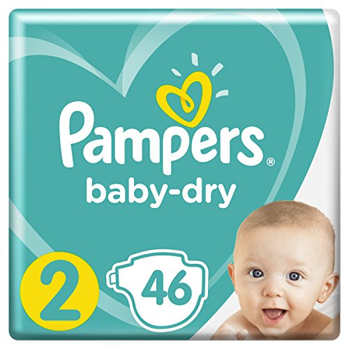 Pampers Baby-Dry Pannolini, Taglia 2 (4-8 kg)