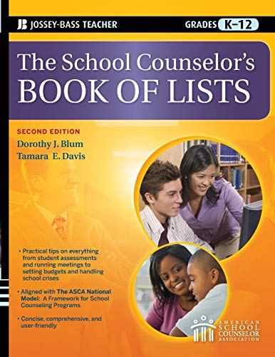 Download The School Counselor's Book of Lists (J-B Ed: Book of Lists) 0470450657