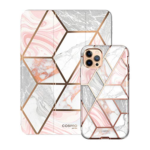 i-Blason Cosmo Pink Paired Bundle - iPhone 12 Pro Max, 6.7' & iPad 10.2' Case