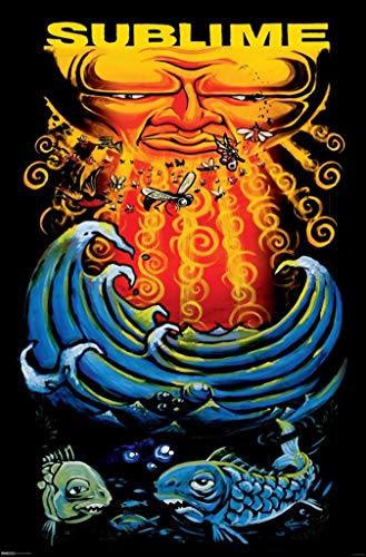 Picture Peddler Laminated Sublime Sun and Fish Music Poster Poster Print, 24x36